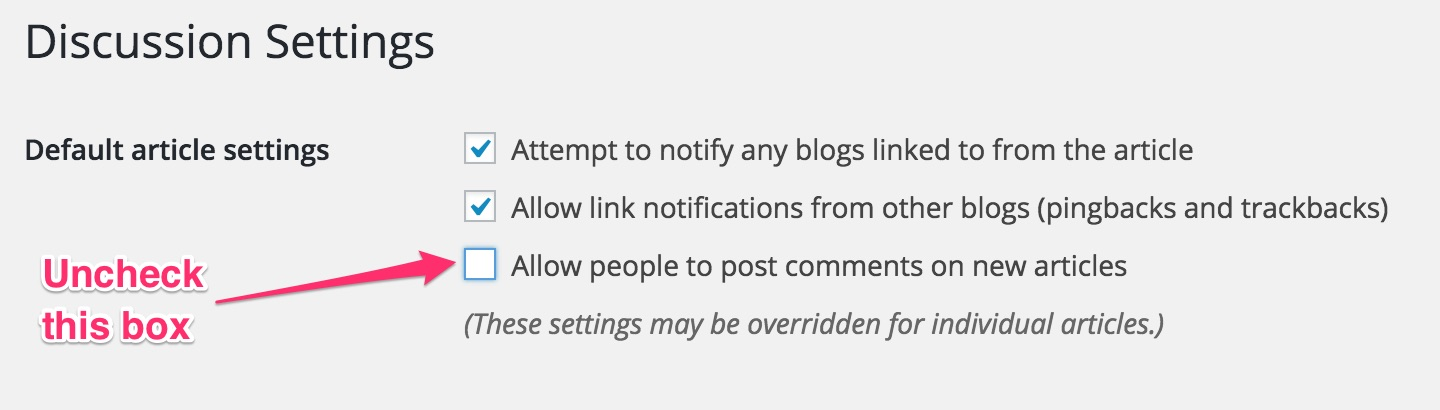 How to Disable WordPress Comments for All Posts/Pages