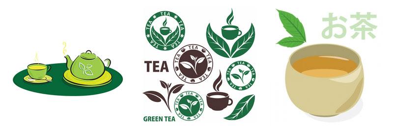 Green Tea Logo Ideas
