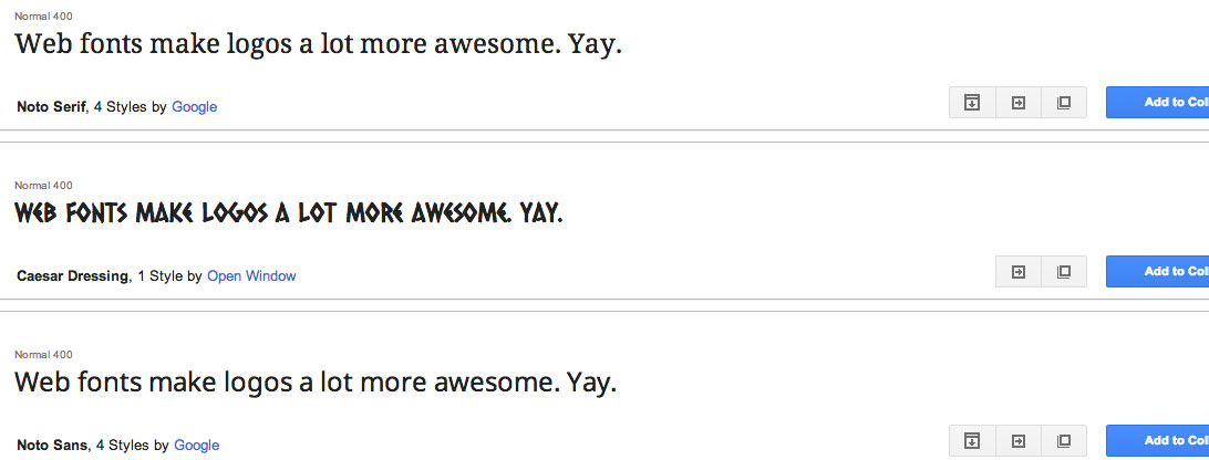 Web Fonts Are Awesome.