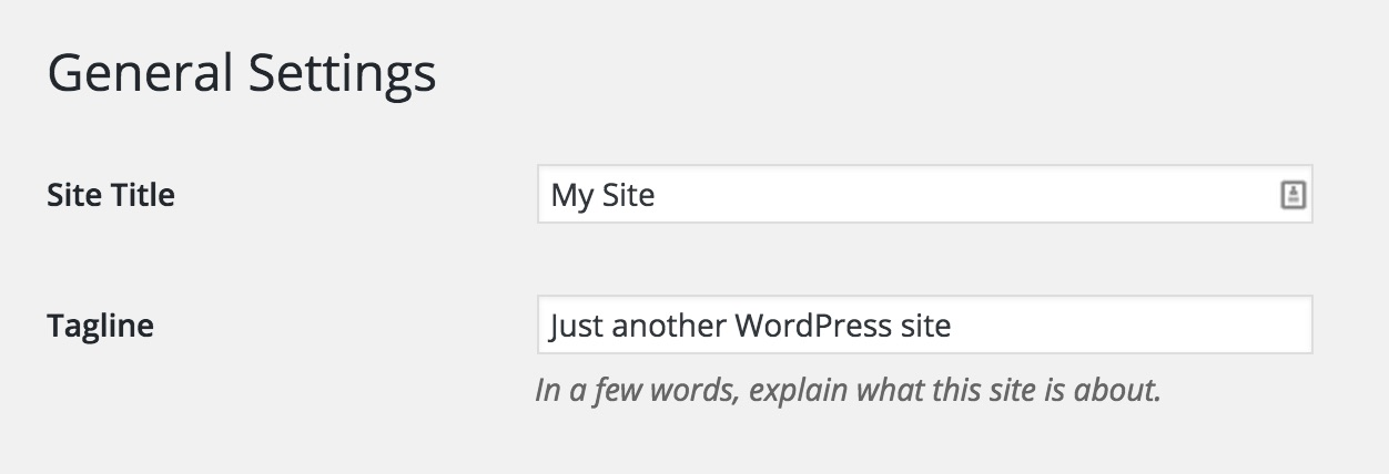 Setting a Site Title and Tagline in WordPress
